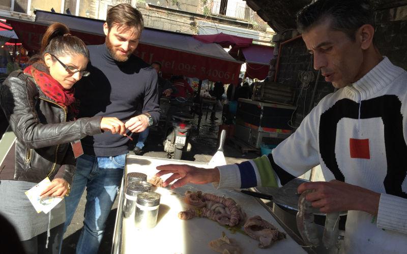 Catania street food - stigliola